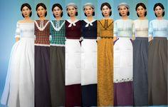 Recolors of Kiara's civil war dress at Budgie2budgie • Sims 4 Updates