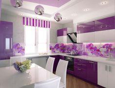 cucina bianca moderna top viola - Cerca con Google