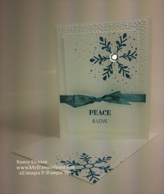 #HollyJollyGreetings, #Snowflakes, #Winter This is a simple card using the Holly Jolly Greetings stamp set by Stampin' UP! Visit my blog: www.MyStampinSpace.com for details