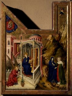 Melchior Broederlam, Kruisigingsretabel, Musée des Beaux-Arts, Dijon.