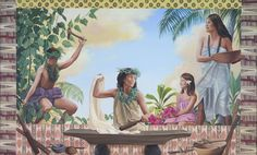 This beautiful mural by local artist Carol Bennett has welcomed guests to Sheraton Kauai for many years. The painting depicts the creation of kapa fabric in ancient Hawai'i.