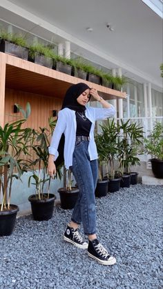 Hijab Fashion Summer, Modern Hijab Fashion, Street Hijab Fashion, Hijab Fashion Inspiration, Muslim Fashion, Look Fashion, Fashion Outfits, Hijab Casual, Hijab Chic