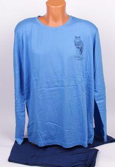 Мъжка макси пижама в два цвята синьо. Мъжка 85cff581e580b