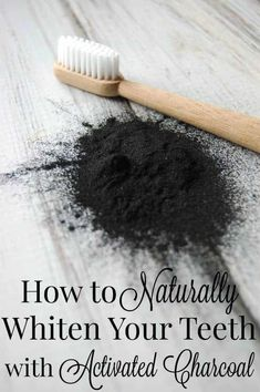 How to Naturally Whiten Your Teeth with Activated Charcoal - Who knew that a powder that can turn everything black can help turn your teeth WHITE?! #teethwhitener #whitenteeth #activatedcharcoal #greenbeauty
