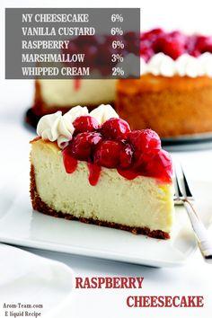 Raspberry Cheesecake e liquid recipe idea for a better vape ! #ecig #diy #vape #vaping