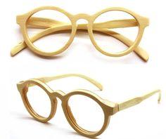 handmade round vintage bamboo  eyeglasses  sunglasses 1104 with wood box by TAKEMOTO on Etsy