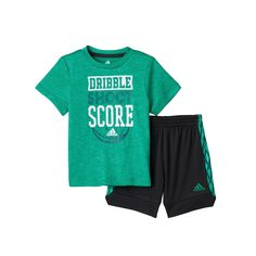 Scoring Basketball Academy Toddler Boy Adidas Dribble, Shoot  Score Basketball Tee  Shorts Set, Size: 3T, Brt Green - TSA Is a Complete Ball Handling, Shooting, And Finishing System!  Here's What's Included...