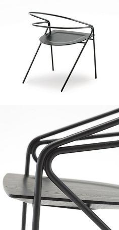 Steel #chair GEORGE'S LIGHT by Living Divani | #design David Lopez Quincoces @livingdivani