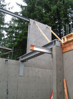 STRUCTURE-steel to concr. « home building in Vancouver Concrete Building, Metal Building Homes, Metal Building Kits, Building Design, Building A House, Concrete Structure, Roof Structure, Steel Structure, Bamboo Construction
