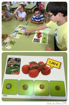 Esta semana hemos empezado a trabajar actividades con euros . Antes de empezar el tema correspondiente del libro de matemáticas, quise pres... Primary Maths, Primary School, Euro, Dramatic Play, Homeschool, Activities, Education, Crafts, Mondrian