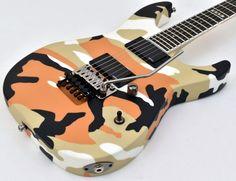ESP E-II M-II Neck Thru Body Electric Guitar in Desert Camo - EIIMIINT