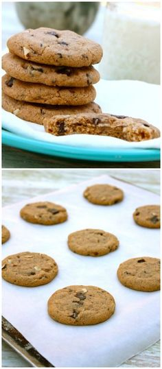 The BEST Almond Butter Chocolate Chunk Cookies