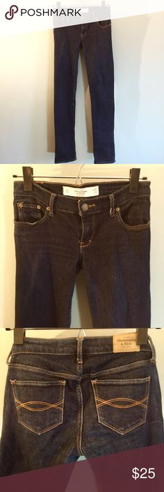 "Abercrombie & Fitch Erin Jeans In terrific condition, these jeans measure waistband 27"", hips 30@, front rise 7"", inseam 32"", leg opening 12"". 98% cotton/2% elastane. Abercrombie & Fitch Jeans Skinny"