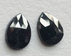 Black Rose Cut Diamond Matched Pair Sparkling by gemsforjewels