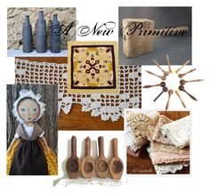 A New Primitive by mrschloegrice on Polyvore featuring interior, interiors, interior design, home, home decor, interior decorating, rustic, etsyvintage, lacorbeille and frenchvintage