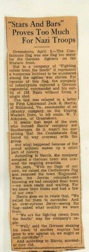 Germans surrender to Southerners  flying Confederate flag without firing a shot in WW2.