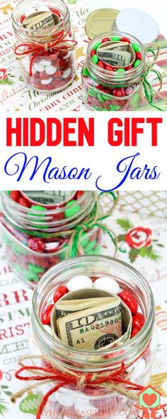 Perfect gift idea for all ages hidden gifts in a jar hidden hidden gift jars christmas gift jars gifts in a jar christmas jar gift diy christmas gifts money gift idea giftsinajar giftideas birthday negle Images