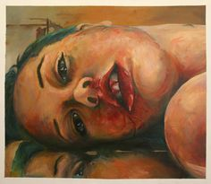 Self Portrait Jenny Saville Style Oil Painting