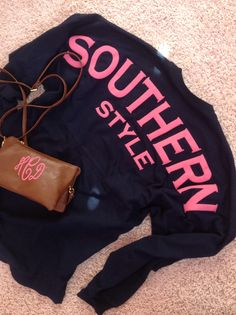 Monogram purse and Southern Shirt Co. Shirt!