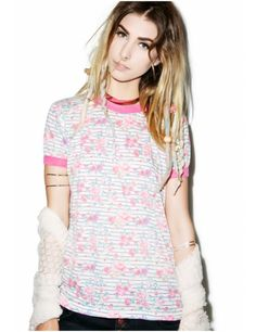 Wildfox Couture So 90's Vintage Ringer Tee | Dolls Kill