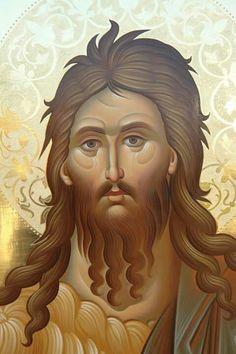 John the Forerunner Byzantine Icons, Byzantine Art, Religious Icons, Religious Art, Greek Icons, Religious Paintings, Biblical Art, John The Baptist, Orthodox Icons