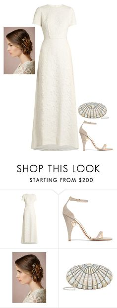 """""""Untitled #4110"""" by injie-anis ❤ liked on Polyvore featuring self-portrait, Nicholas Kirkwood and Judith Leiber"""