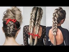 Cute and Easy Ponytail Hairstyle For School   School Hairstyles   Braidsandstyles12 - YouTube Easy Hairstyles For Long Hair, Elegant Hairstyles, Everyday Hairstyles, Hairstyles For School, Ponytail Hairstyles, Braided Hairstyles, Cool Hairstyles, Hairstyle Ideas, Hairstyle Tutorials