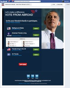 Democrats Abroad Facebook app Obama Campaign, Vote Counting, Facebook Search, Search People, Invite Your Friends, Poker, Apps, Let It Be, App