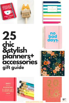 2017 Gift Guide: 25 Best Planners and Accessories - Time Management for Working Moms - Mom Hacks, Baby Hacks, Life Hacks, Bullet Journal Hacks, Bullet Journals, Time Management Planner, Intrinsic Motivation, Life Binder, Thing 1