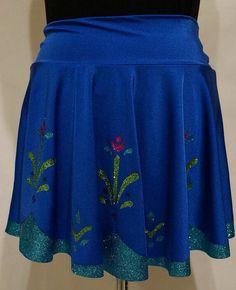 Anna Frozen Glitter Running Skirt: by RunPrincessRun on Etsy