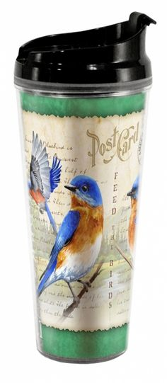 Bluebird Vintage Bird 24oz Tall Acrylic Tumbler - American Expedition