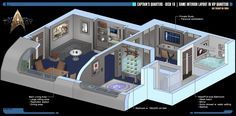 Captain's Quarters | Star Trek: Theurgy by Auctor-Lucan.deviantart.com on @DeviantArt