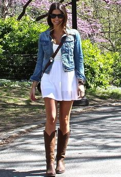 So, in love with this look :) All about the cowboy boots these days. #stitchfix