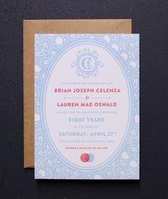 Vintage Lace Letterpress Wedding Invitation Samples