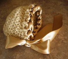 Ready to Ship Crochet Newborn Bonnet