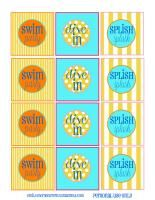 52 Mantels: Dive In, It's a Swim Party {with Free Printables!} Pool Party Themes, Party Ideas, Pool Cupcakes, Water Gun Party, Party Printables, Free Printables, Cupcake Toppers Free, Splash Party, First Birthday Parties