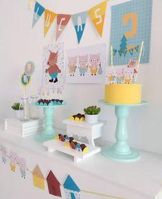Boys First Birthday Party Ideas, 1st Boy Birthday, Boy Birthday Parties, Pig Party, Baby Party, Party Decoration, Birthday Decorations, Festa Party, Party In A Box
