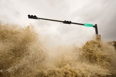 Waves explode over a seawall and into Galveston, Texas as Hurricane Ike approaches on September 12, 2008.