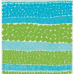Jurmo kangas, turkoosi-vihreä - finnish design...
