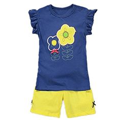 Baby Box Little girls sleeveless Infant Clothing Toddler Tshirt  pants Size 6 ** Read more reviews of the product by visiting the link on the image.