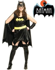 Womens Full Figure Batgirl Super Hero Costume  sc 1 st  Pinterest : superheroes and villains costumes  - Germanpascual.Com