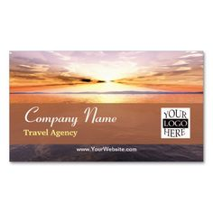 Wonderful Modern Sunset Travel And Tourism Pack Of Standard Business Cards