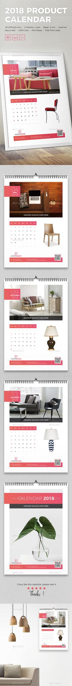 2018 Product #Calendar - Calendars #Stationery