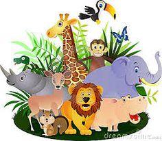 Resultado de imagem para animais selvagens desenhos