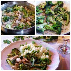 A szürke, téli hónapokban jólesik az üde zöld brokkoli és a telt ízű, krémes, szószos csirke.