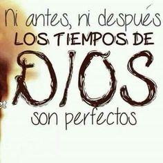 Ni antes ni despues los tiempos de Dios son perfectos