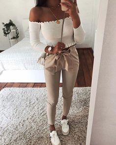 CLICK & BUY :) SHOP New sexy style casual white women pants autumn fall winter bottoms trousers white pants office work outfit denim jacket workwear outfit white sneakers work outfit floral top blouse fall outfit Source by lauramonicaapostol Mode Outfits, Fashion Outfits, Womens Fashion, Ladies Fashion, Fashion Trends, Fashion Clothes, 6th Form Outfits, Fashion Ideas, Girl Fashion