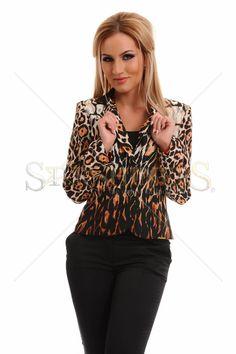 MissQ Tiger Bloom Brown Jacket