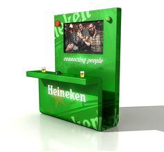 "Product impressie van Bierdisplay ""Connecting People"" voor Heineken Nederland"