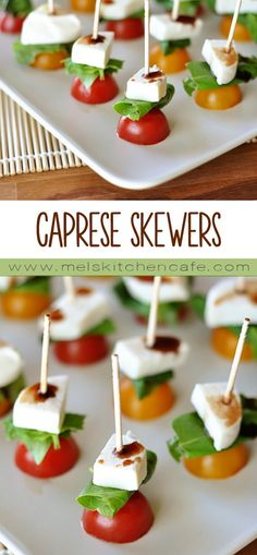 These caprese skewers are simple, refreshing and tasty.